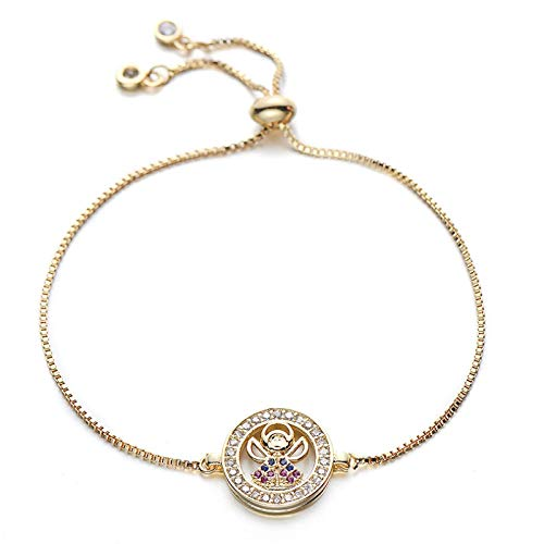 Jewellery Bracelets Bangle For Womens Lovely Colorful Charm Bracelet With Cubic Zirconia On Border Adjustable Chain Women Bracelets Jewelry Gift Gold