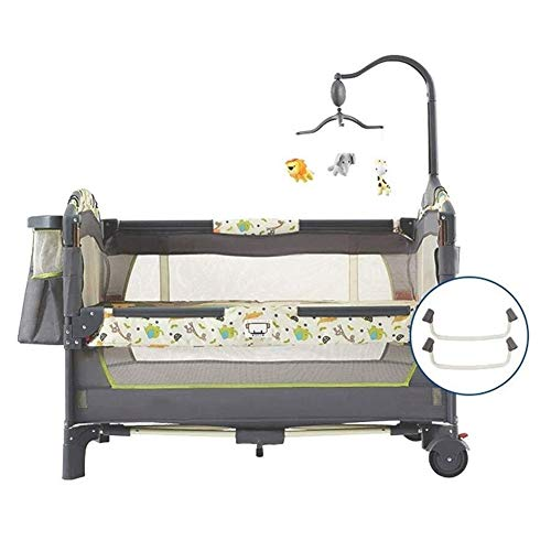 Sale!! HLR-Travel Beds Travel Crib Multifunction Portable Game Thick Bed Fence Bionic Design Folding...