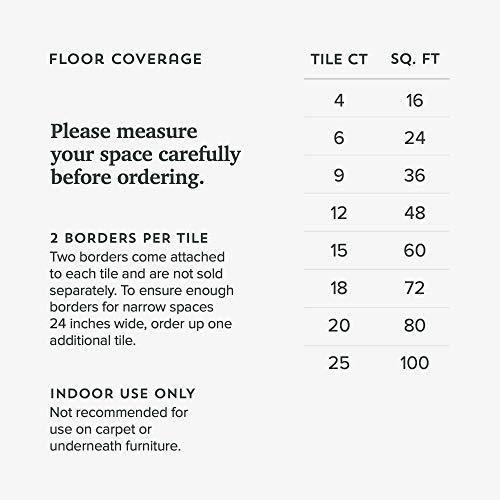 Forest Floor Thick Printed Foam Tiles, Premium Wood Grain Interlocking Foam Floor Mats, Anti-Fatigue Flooring