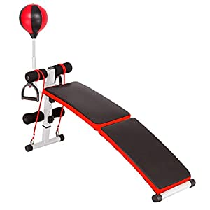 Tuuu Adjustable Exercise Bench,Foldable Utility Weight Bench for Full Body Workout,Multi-Purpose Exercise Workout Incline/Decline Bench for Home Gym (A)