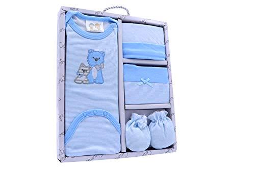 patucos Gorro Set de regalo Primera puesta bebe algodon 100/% ositos azul tacto suave y agradable manoplas y body