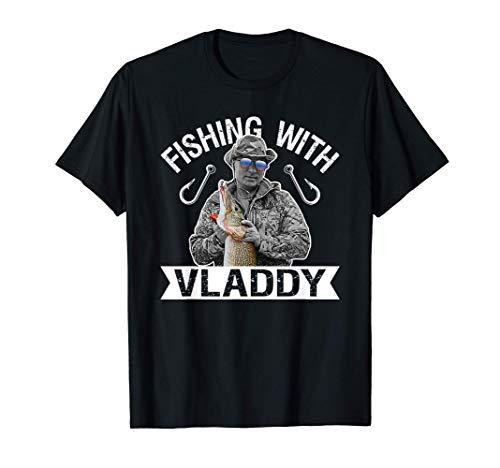 Vladimir Putin Pescando con Vladdy Gafas Bandera Rusia Camiseta