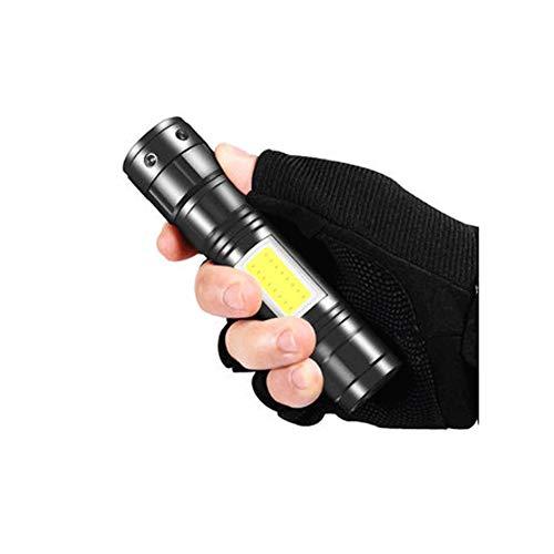 SJZLMB Le Torche LED Lampe LED Lampe de Poche Petite Lampe de Poche d'extérieur Portable Multi-Fonction USB Rechargeable Longue Lumineuse Maison Coup Super-lumière