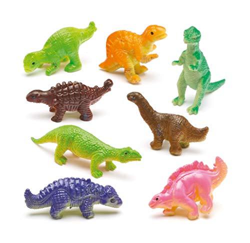 Baker Ross Dinosauri Elastici (Confezione da 12) Piccoli Giocattoli, Perfetti per Giocare o per le Feste dei Bambini