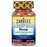 Zarbee's Naturals Sleep with Melatonin Supplement - 60 Gummies, Pack of 2