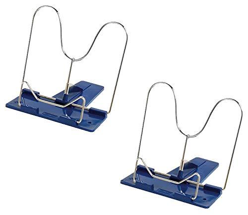 Herlitz Leseständer mit Metallbügel und Kunststoffsocke (Blau, 2 Leseständer)