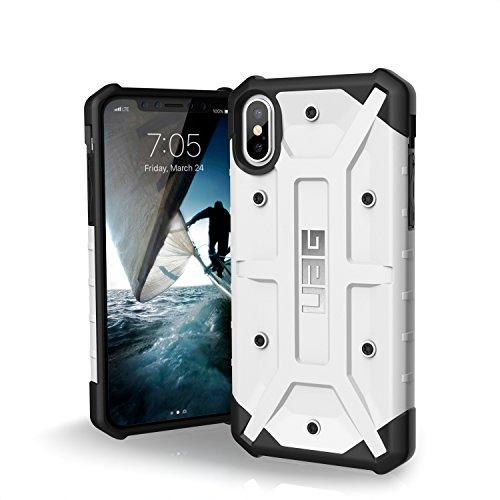 Urban Armor Gear Pathfinder Schutzhülle Nach US-Militärstandard für Apple iPhone Xs / X (Weiß) [Qi kompatibel, Verstärkte Ecken, Sturzfest, Antistatisch, Vergrößerte Tasten] - IPHX-A-WH
