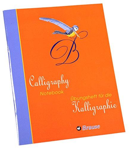 Brause 98204SB Kalligraphie Übungsheft Set Junior (mit 1 Übungsheft mit 40 Blatt und 16 Etiketten)