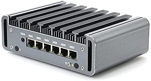 Partaker Firewall Micro Appliance, Fanless Mini PC, Network Router, Intel Celeron 3867U/3865U/3965U, 6 Gigabit Nics, AES-NI, HD, COM, (DDR4 16G RAM/240G SSD)