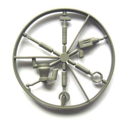 LEGO Star Wars - Werkzeugsatz für Minifiguren im Alten seltenen dunkelgrau Schraubenzieher Hammer Ölkännchen Schlüssel Bohrmaschine