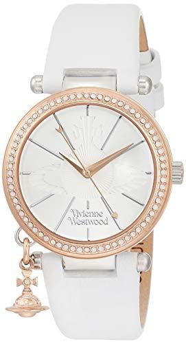 [ヴィヴィアンウエストウッド] 腕時計 オーブ パステル ステンレススチール シルバー文字盤 ホワイトレザー革 クォーツ VV006RSWH レディース 並行輸入品 ホワイト