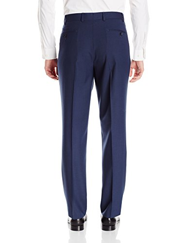 Perry Ellis Men's Modern Fit Sharkskin Suit, Blue, 44 Regular