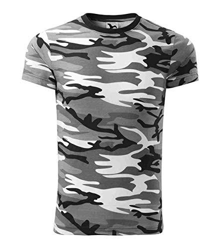 S.B.J - Sportland Kids Camouflage Shirt Classic Army Style T-Shirt für Kinder Kurzarm in Tarnfarbe grau