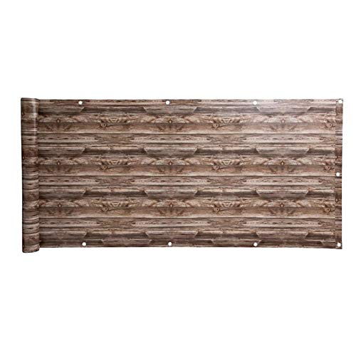 IHD Balkonsichtschutz Sichtschutz Balkonbespannung Balkonverkleidung 6 Meter Balkon Dekor Holz-Optik 2 75x600cm