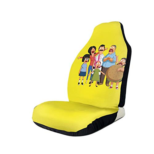 Bob'S Burgers Car Seat Covers Car Front Seat Protector Tire Tracks Car Seat Accessories Black/Pink