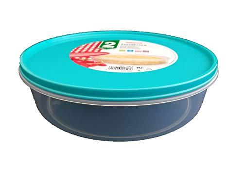 DAKE Fiambrera Tortilla Patatas Redonda Microondas Contenedor (Azul)