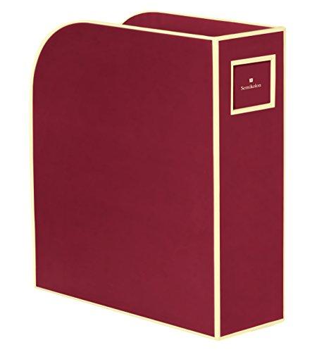 Semikolon, portariviste, per documenti in formato A4 e US Letter, colore burgundy (rosso scuro), dimensioni 10,5 x 26,0 x 31,0 cm-