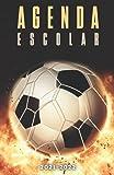 Agenda Escolar 2021-2022 futbol: Agendas 2021-2022 dia por pagina   Planificador diario para niñas y niños   Material escolar colegio secundaria estudiante   Portada Balón