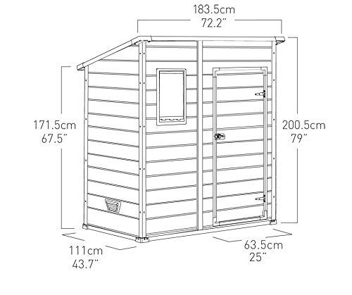 Keter Manor Pent Outdoor Plastic Garden Storage Shed, Beige/Brown, 6 x 4 ft Garden Storage & Housing