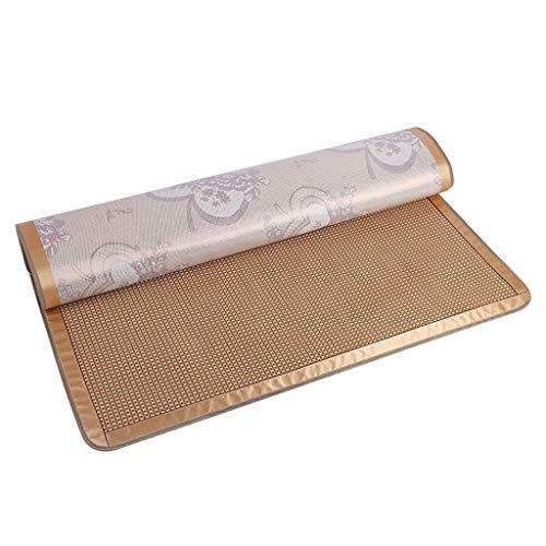 Estera de dormir de verano almohadilla de ratán de seda de hielo gruesos asientos de lino de doble cara se pueden plegar esteras Asientos Royal Rattan Asientos de ratán de 1,8 m ( Size : 90*180cm )
