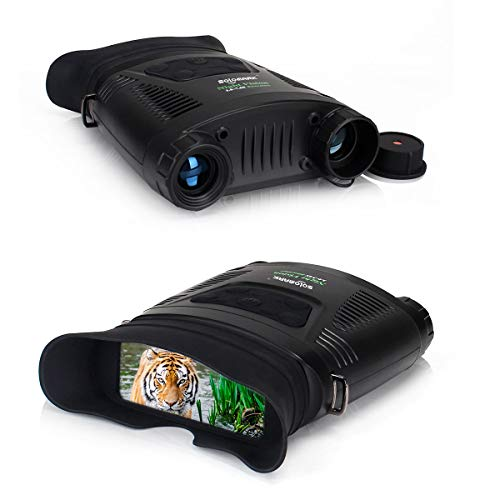 Night Vision Binoculars - 3.8-7.6X Light Weight Handed Infrared Night Vision Hunting Binoculars with Comfortable Large Viewing Screen Can Take Day or Night Photos and Videos