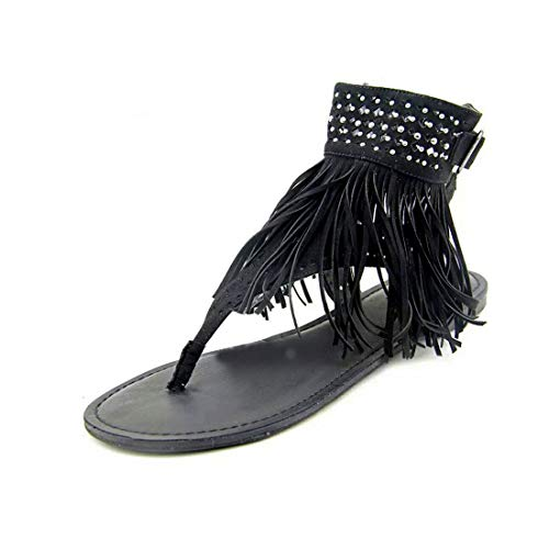 MUCHAO Sandalias con Flecos de la Moda de Las Mujeres de Sandalias de Verano Sandalias de Playa Sandalias Planas Bohemias