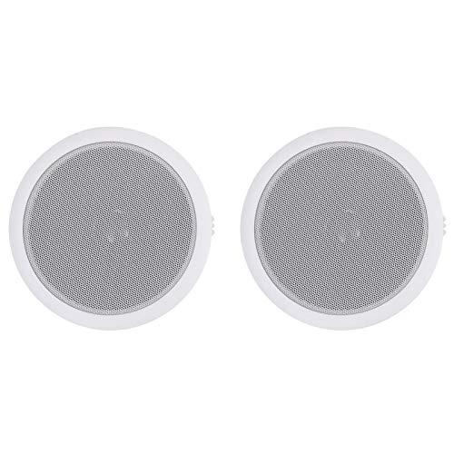 pedkit Altavoces de Pared y Techo incorporados Altavoces de Techo Resistentes al Agua para baño Hogar Cocina Dormitorio 2# 2 Piezas 120 W