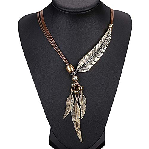 Wcysin Brown Women Girls Antique Vintage Time Necklace Sweater Chain Pendant Jewelry