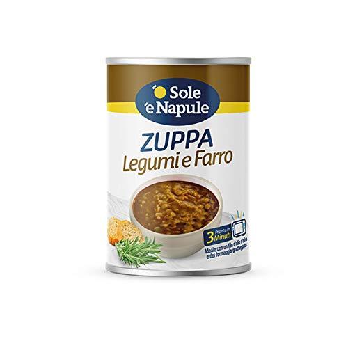 Zuppa di cereali con Legumi e Farro 400gr -'O Sol e Napule' - Cartone 12 Pezzi