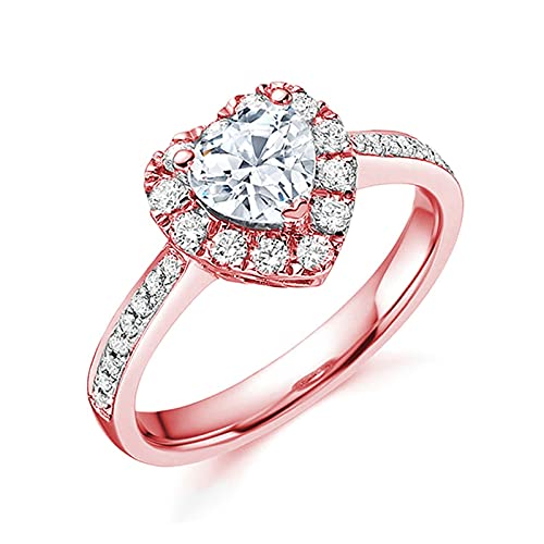 Fashion 925 Silver Jewelry Simulated Mystic Topaz Women Promise Wedding Engagement Ring Anniversary Ring