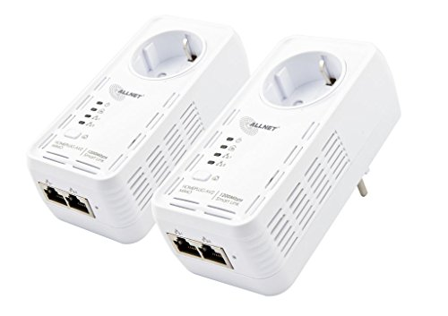 AllNet ALL1681205DOUBLE Powerline (1200Mbit, 2er Bundle Bridge, RJ45, HomePlugV2)
