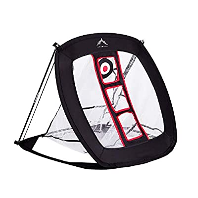 Himal Pop Up Golf Chipping Net Indoor Outdoor Collapsible Golf Accessories Golfing Target Net - for Accuracy and Swing Practice