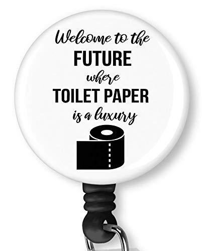 Toilet Paper is A Luxury Retractable Badge Reel with Alligator Clip,Name Nurse ID Card Badge Holder Reel, Decorative Custom Badge Holder
