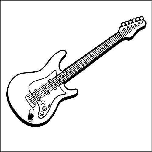 pegatinas de pared vinilo Música Diseño Guitarra Eléctrica Hermosa Casa Dormitorio Especial...