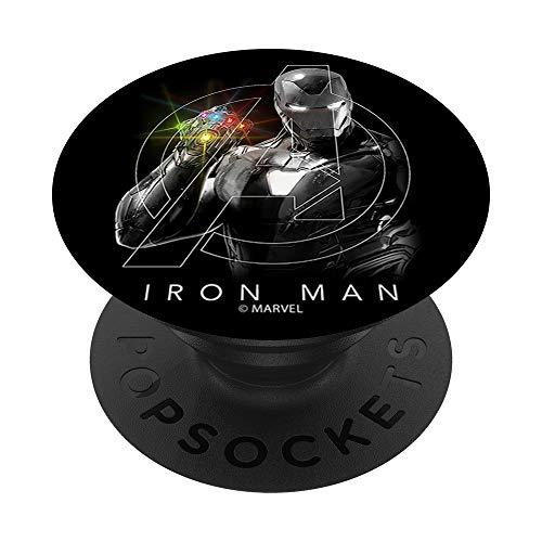 Marvel Avengers Iron Man Infinity Stones Shine PopSockets PopGrip - Support et Grip pour Smartphone/Tablette avec un Top Interchangeable