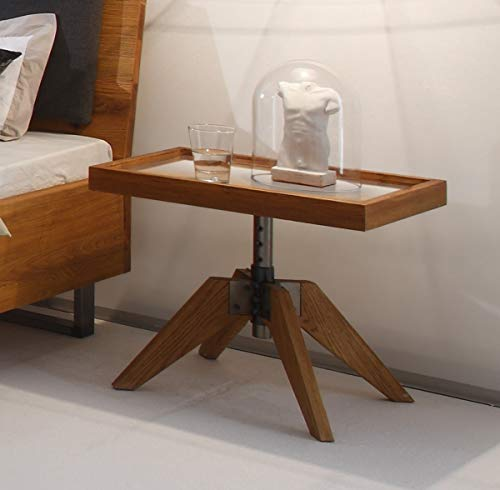 Hasena Oak Wild Wildeiche Nachttisch Carpi mit Glasplatte