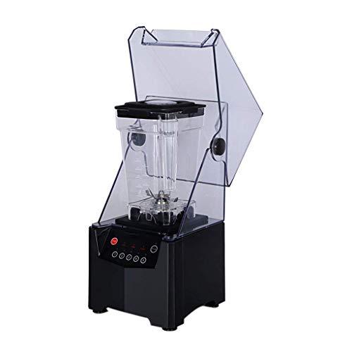 GJJSZ Kommerzielle Smoothie-Maschine - Schallschutz-Mixer mit Deckel,Saft-/Sojamilch-/Milchshake-/Sand-Smoothie(schwarz)