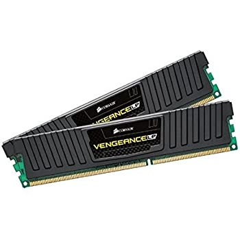 Corsair CML16GX3M2A1600C9 Vengeance Low Profile 16GB (2x8GB) DDR3 1600 Mhz CL 9 XMP Performance Desktop Memory Kit Black