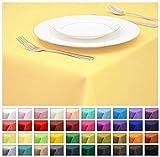 Rollmayer Tischdecke Tischtuch Tischläufer Tischwäsche Gastronomie Kollektion Vivid (Pastellgelb 44, 130x180cm) Uni einfarbig pflegeleicht waschbar 40 Farben