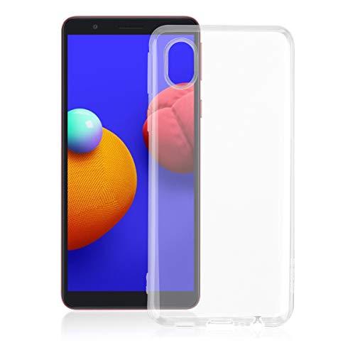 ROVLAK Funda para Samsung Galaxy A01 Core Case Slim Transparente con Función Anti Amarillamiento Cover TPU Silicona Case+Funda Antigolpes Protección Completa del Cuerpo para Samsung Galaxy A01 Core