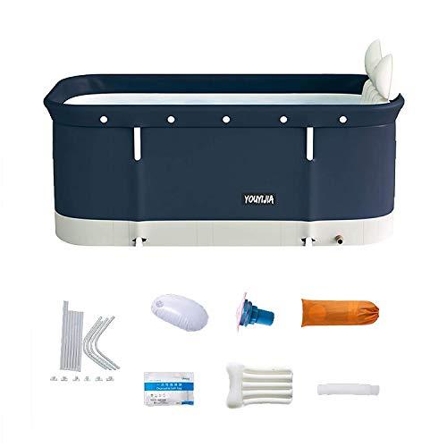 Faltbadewanne für Erwachsene, 120 cm, tragbar, nicht aufblasbare Badewanne – freistehende dicke Kunststoff-Faltwanne für Erwachsene, Sauna-Dampf-Badewanne für Erwachsene, tragbare Duschbadewanne
