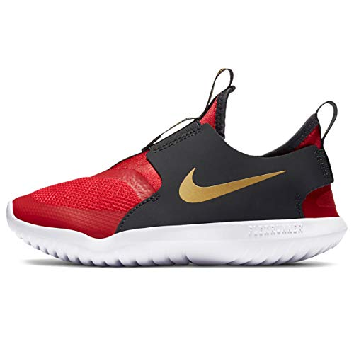 Nike Kids Flex Runner (niño), negro (University Rojo/Metálico Oro), 29 EU