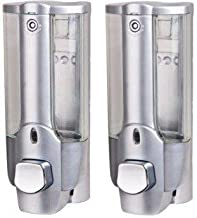 SBD Soap Dispenser with Lock (Silver) - Pack of 2