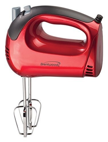 Hand Mixer - Brentwood Powerfull 5 Speed 150W Kitchen Hand Mixer with 2 Heavy Duty Chrome Detachable Beaters - By Basic Finds