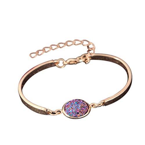 2018 Nouveaux bracelets YanHoo Crystal Style Cluster Bracelet Mode Couleur Poncage Bracelet Bracelet Bracelet (F)