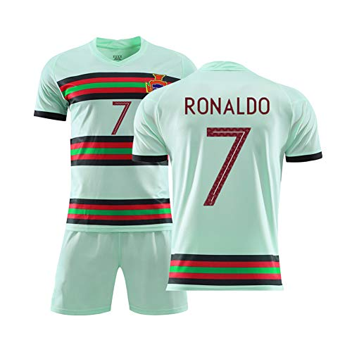 LIUJING Portugal Trikot Heim- und Auswärts 2020 Europapokal Nationalmannschaft Nr. 7 Cristiano Ronaldo Fußballanzug Größe (100-2XL)