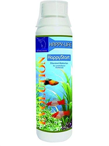 Happy-Life HappyStart 250 ml - EVOLUTION Aquarienpflege für Aquarium Neueinrichtung / Wasserwechsel