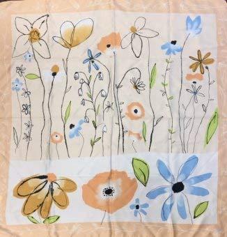 Passigatti Modisches Tuch Blumen 85x85 cm 100% Polyester, Blumen