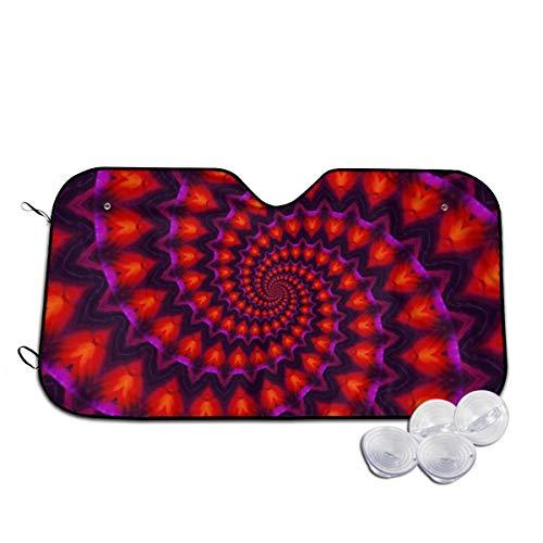 Voorruit Zon Schaduw Visor Voorruit Glas Voorkomen De Auto Van Verwarming Inside Power Spiraal Kaleidoscope Rood Violet Fractal Aangepaste