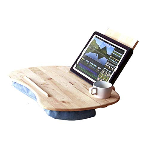 HYY-YY Laptop Stand For Desk Tablet Computer Bracket Solid Wood Multifunction Portable Student Dorm Room Small Table Sofa Bed Tables With Baffles (Color : 580x350MM)